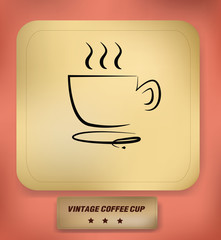 Coffee cup symbol,vector