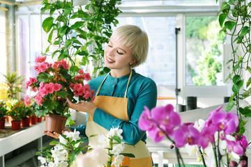 cheerful florist