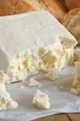 Caerphilly a traditional hard white cheese originally from Wales