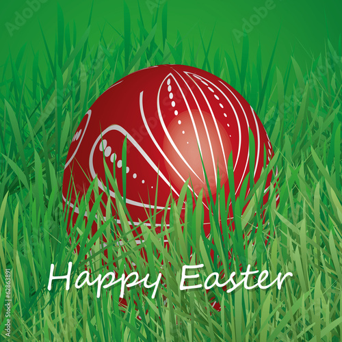 Happy Easter Card - Easter Egg in the Grass