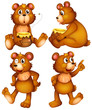 Four brown bears