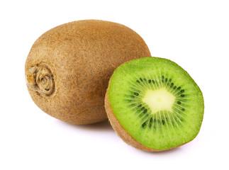 Ripe kiwi isolated
