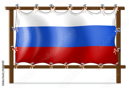 A frame with the flag of Russia