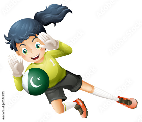 A soccer player from Pakistan