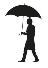 Человек с зонтом