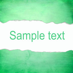 Abstract green background with blank space for text