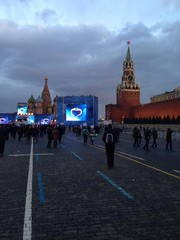 crimea demonstration on red square, moscow