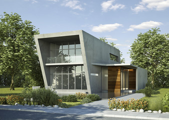 Einfamilienhaus Beton