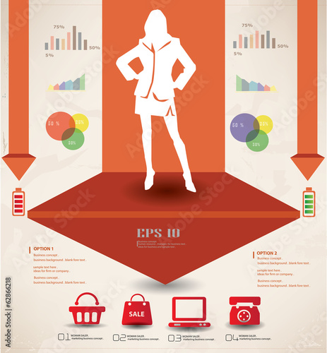 Woman,business and marketing concept