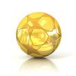 Detaily fotografie golden football - soccer ball with star pattern