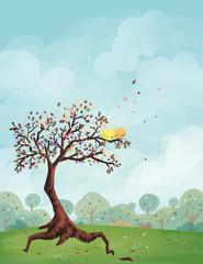 pájaros en primavera