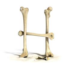 bones font letter H