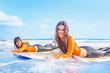 Surfer girls in Bali