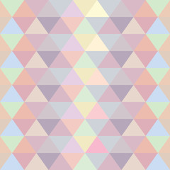 Repeat  Vector  Seamless Pattern Pastel Triangle