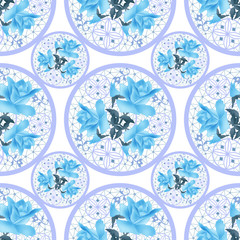 Seamless ornamental floral pattern