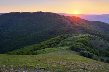 Beautiful sunrise mountains