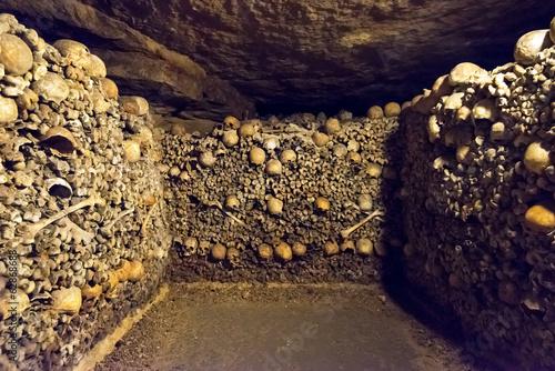 Fotobehang Begraafplaats The Catacombs of Paris