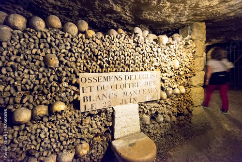 Keuken foto achterwand Begraafplaats The Catacombs of Paris