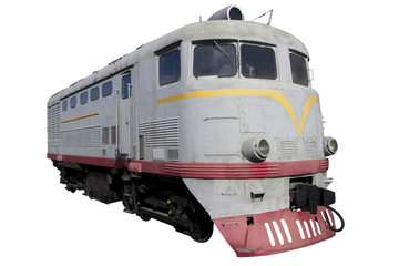 gray diesel locomotive