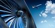 Leinwanddruck Bild - Turbine und Flugzeug