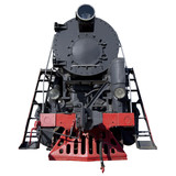 black retro locomotive