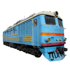 light blue locomotive