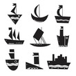 Ships icons isolated. Vector art