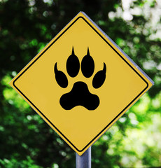 Animal paw pictogram