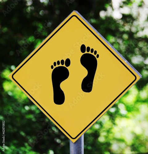 Footprint pictogram