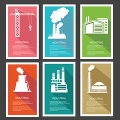 Industrial banner,vector