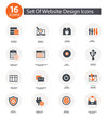 Set Of Website Design Icons,Orange version