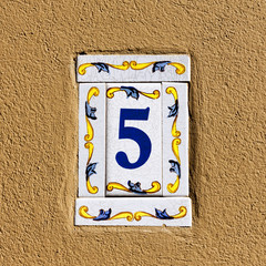 Decorated house number