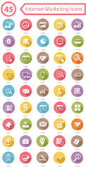 Set Of Internet Marketing Icons,Colorful version