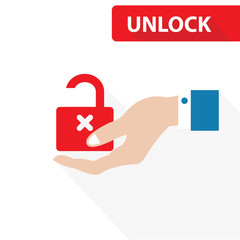 Unlock concept,vector