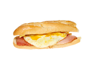Egg bacon baguette