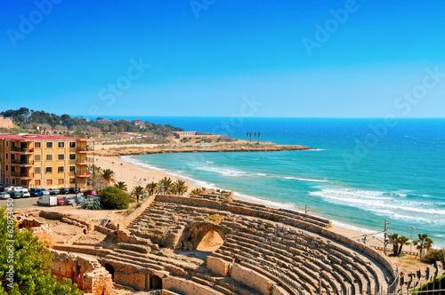 canvas print picture Roman Amphitheater in Tarragona, Spain