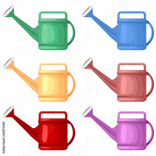 Multicolor watering can