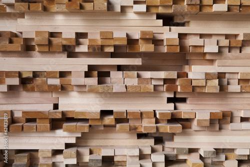 Leinwanddruck Bild storage of wood