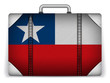 Chile Travel Luggage with Flag for Vacation