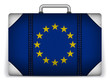 Europe Travel Luggage with Flag for Vacation