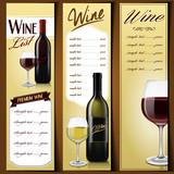 Fototapety wine list