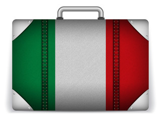 Italy Travel Luggage with Flag for Vacation
