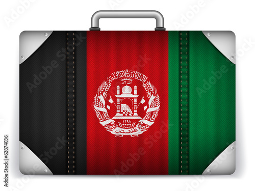 Afghanistan Travel Luggage with Flag for Vacation