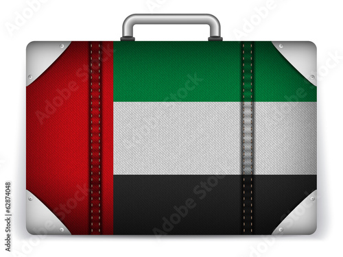 Emirates Travel Luggage with Flag for Vacation