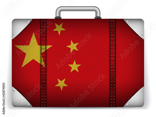 China Travel Luggage with Flag for Vacation