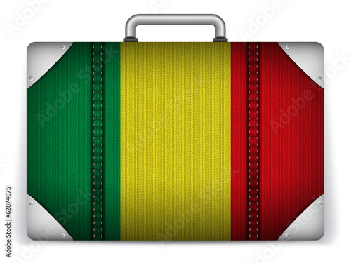 Mali Travel Luggage with Flag for Vacation