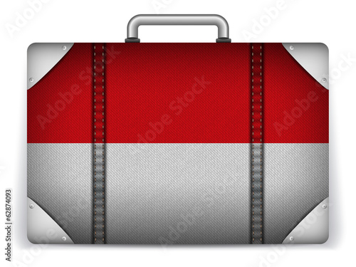 Monaco Travel Luggage with Flag for Vacation