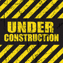 Grunge under construction background