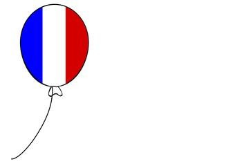 Luftballon Flagge Frankreich