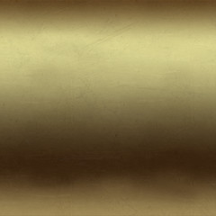 Scratched gold metal background